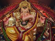 A large Ganesha murti from a Ganesh Chaturthi festival in Mumbai, 2004