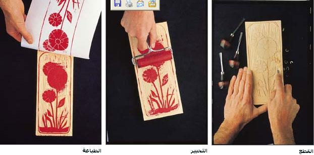 الطباعة بالقوالب الخشبية المعرفة