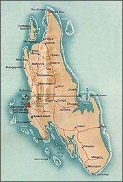 خريطة جزيرة زنجبار الرئيسية