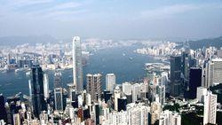 الأفق الوسطى ، هونگ كونگ 'ق مركز مالي (viewed from Victoria Peak, Hong Kong)