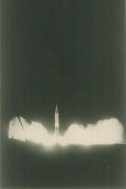 الصاروخ الظافر أثناء الإطلاق.
