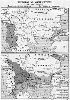 الحدود السياسية في البلقان بعد الحربين (1912-1913)