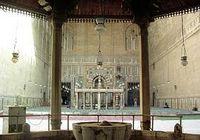 الساحة الداخلية لمسجد السلطان حسن، بالقاهرة.