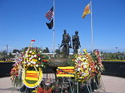 Vietnam War memorial in Little Saigon in Westminster, California