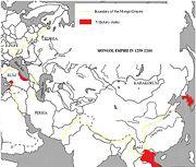 الامبراطورية المنغولية أثناء حكم مونخ خان (ح.1251-59)