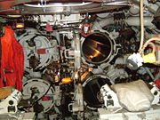 The forward torpedo tubes on HMS Ocelot