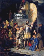 Prince Michael of Chernigov was ordered to worship fire at the camp of Batu Khan. Mongols stabbed him to death for his refusal to renounce Christianity and take part in the pagan ritual.