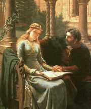 Abelard and his pupil, Héloïse, by Edmund Blair Leighton