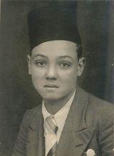 عبد الغني الجمسي، صبياً