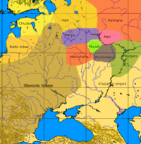 A general map of the cultures in European Russia at the arrival of the Varangians