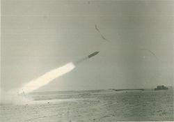 الصاروخ الظافر بعد الإطلاق.