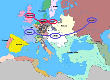 الأحلاف في اوروبا في سنة 1756