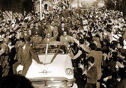 الرئيس جمال عبد الناصر عند اعلان الوحدة مع سوريا.