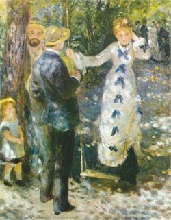 الأرجوحة (La Balançoire), 1876, زيت على كانڤاس, Musée d'Orsay, Paris