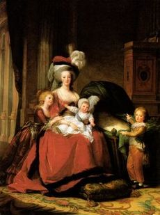 Marie Antoinette Queen of France with her three oldest children, Marie-Thérèse, Louis-Charles and Louis-Joseph