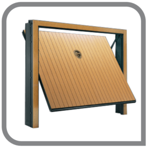 porta basculante linea legno