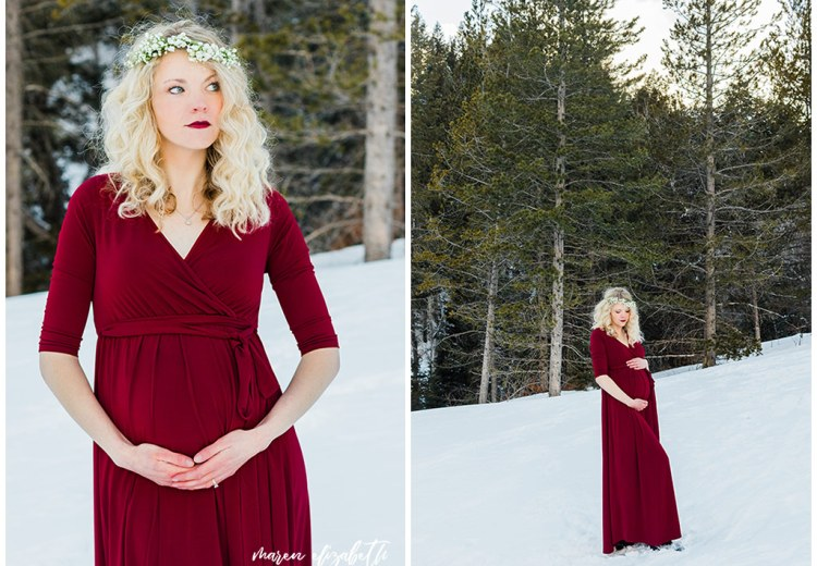 Tibble Fork Maternity Session | Arizona Photographer | It's 100% worth it to get your hair and makeup done professionally.