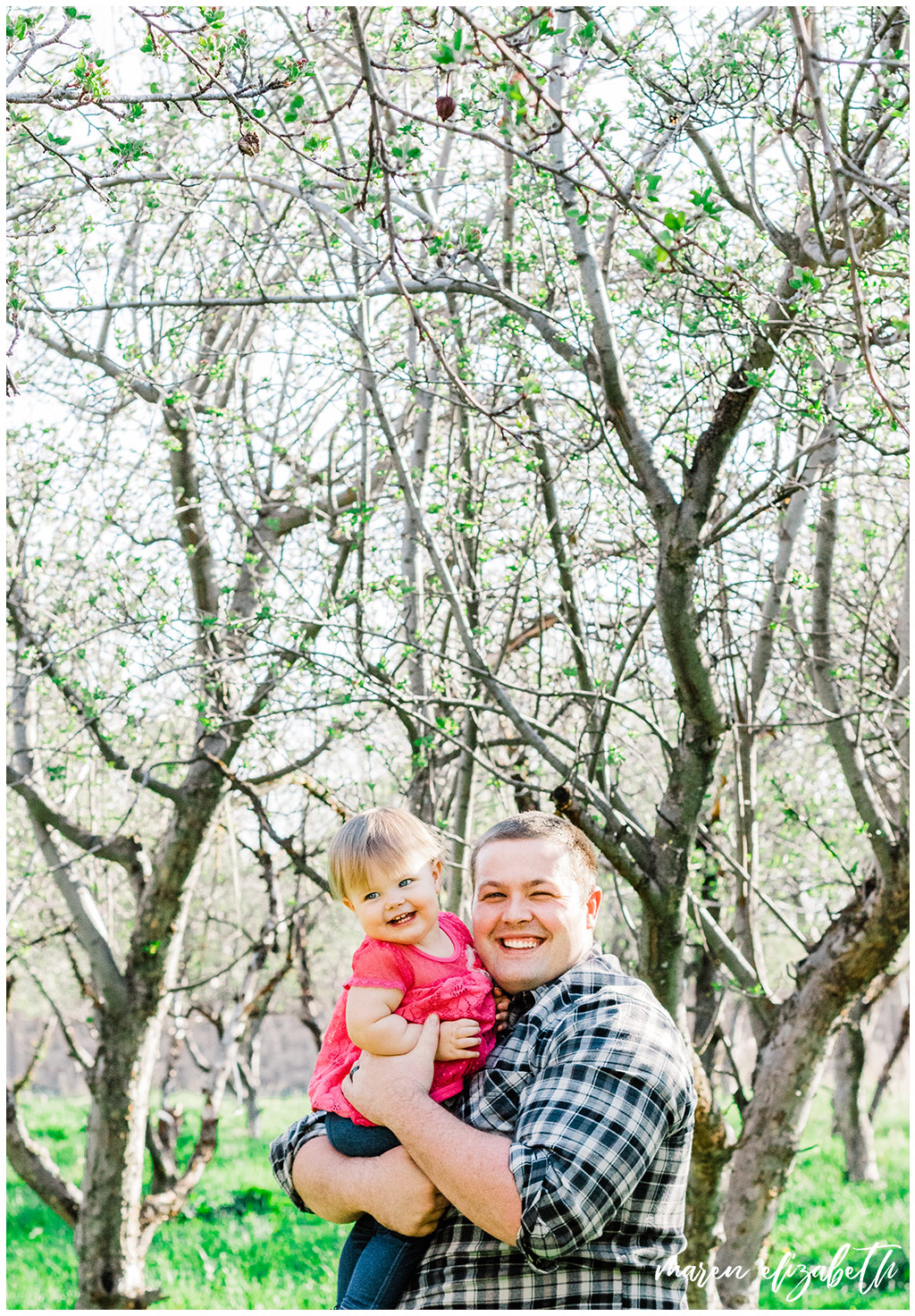 Daddy & Me mini session at the provo orchard with a toddler. I love taking pictures of toddlers because of their wiggly energy and huge personalities. | Gilbert Family Photographer | Maren Elizabeth Photography
