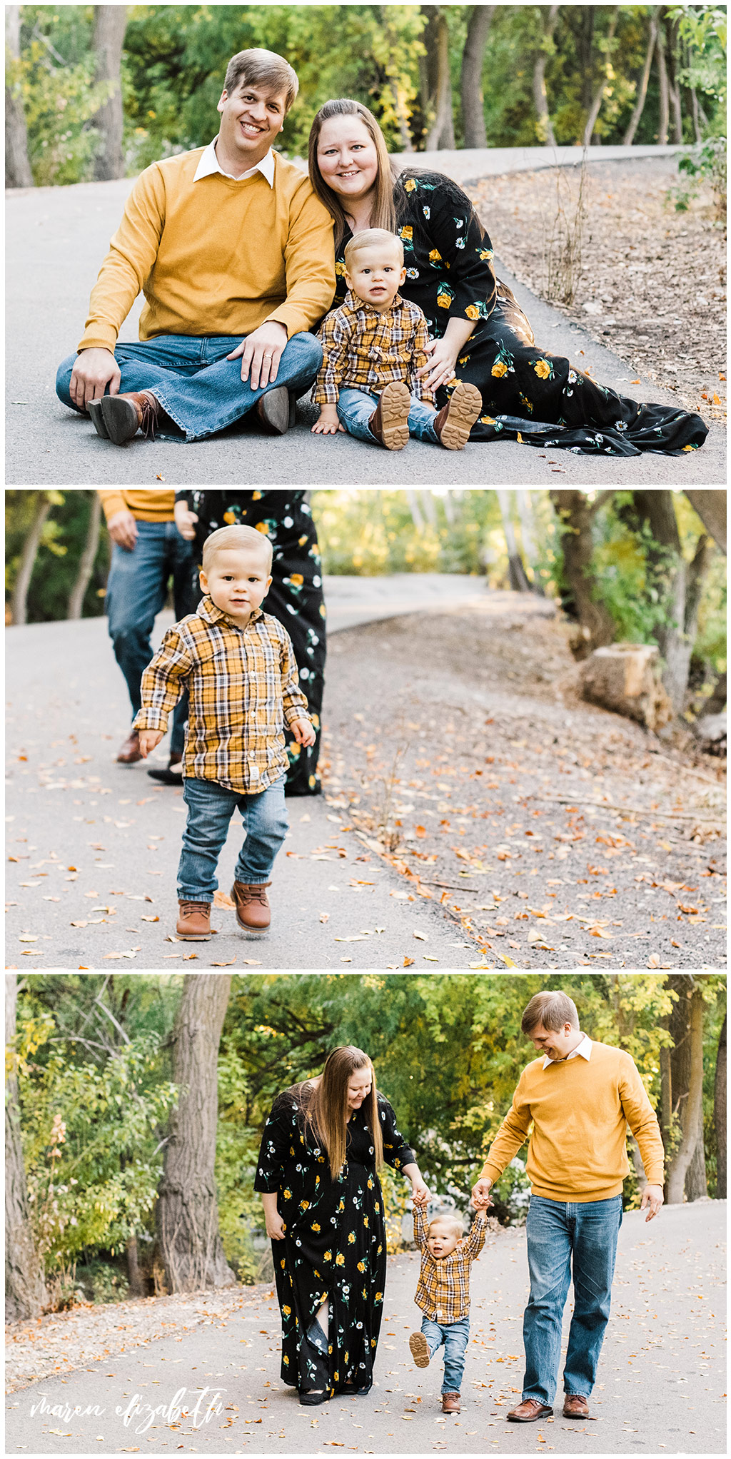 The Lakeshore Bridge Trailhead is one of my go to locations in Utah for Family Pictures. It's got a tree covered path, open fields, a country road, and Utah Lake nearby. | Arizona Family Photographer | Maren Elizabeth Photography