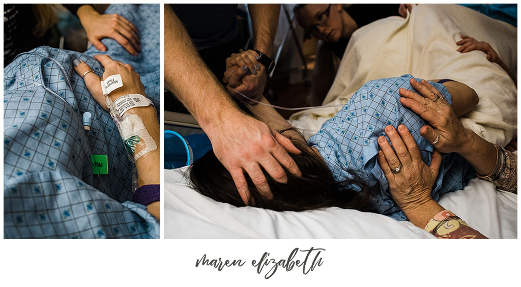 Maren Elizabeth Photographer worked with canaryjane.com to capture the birth story of their rainbow baby. | Utah Birth Story | Arizona Birth Photographer