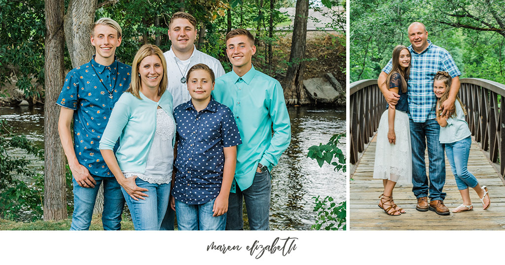 Extended family photos at Paul Ream Wilderness Park in Provo, UT by Maren Elizabeth Photography, Arizona Family Photographer