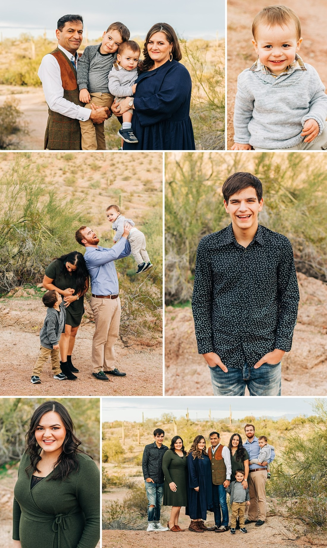 Family Pictures at Papago Park | Arizona Family Photographer
