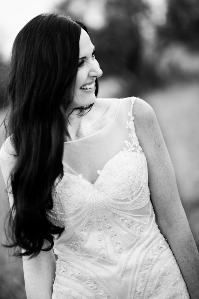 stralende bruid lag