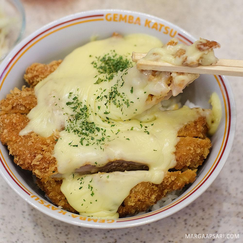 Menu Cheese Katsu di Gemba Katsu