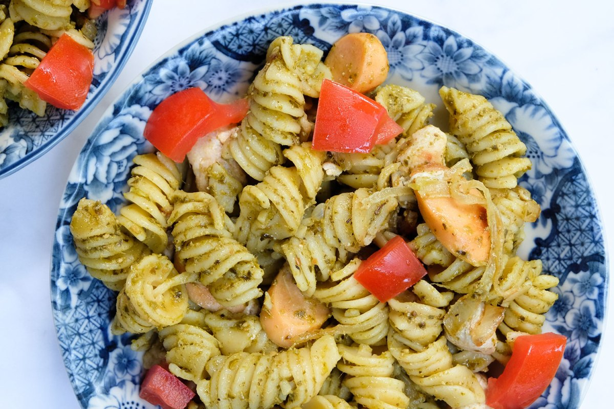 Chicken Pesti Pasta Recipe