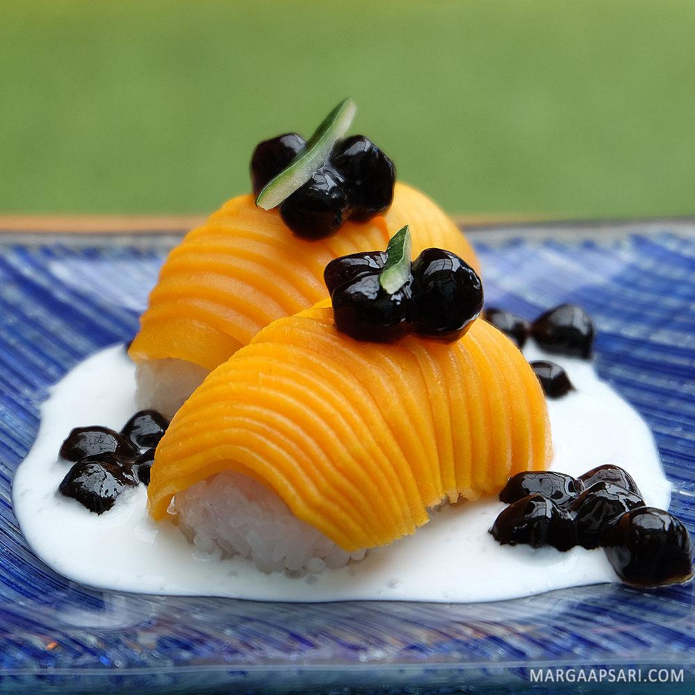 Mango Sticky Sushi Boba