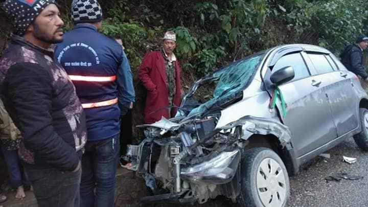 दाङमा दुर्घटना एक जनाको मृत्यु, प्रदेशसभा सदस्य उत्तर वली गम्भीर घाइते