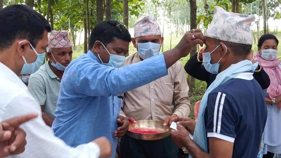 बाँकेको राप्ती सोनारी गाउँ पालिका नेकपा र राप्रपाका ९३ जना नेता कार्यक्रता नेपाली काँग्रेसमा प्रबेश