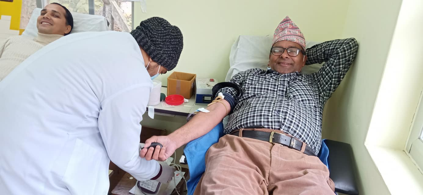 कोहलपुर जेसीजद्धारा रक्तदानको आयोजना, ५५ जनाले गरे रक्तदान