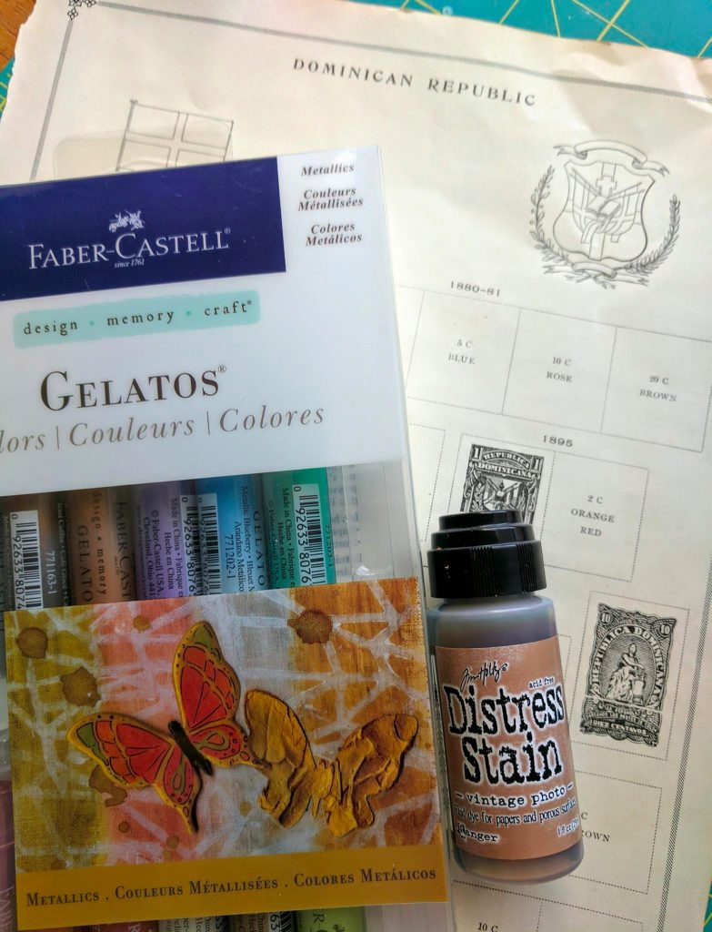 Gelatos and distress stain