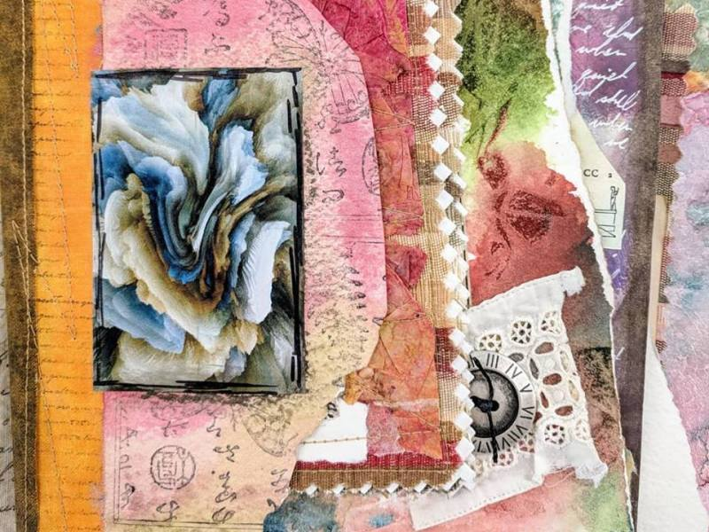 A Fabric junk journal