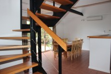 3 stairs.dining.kitchen