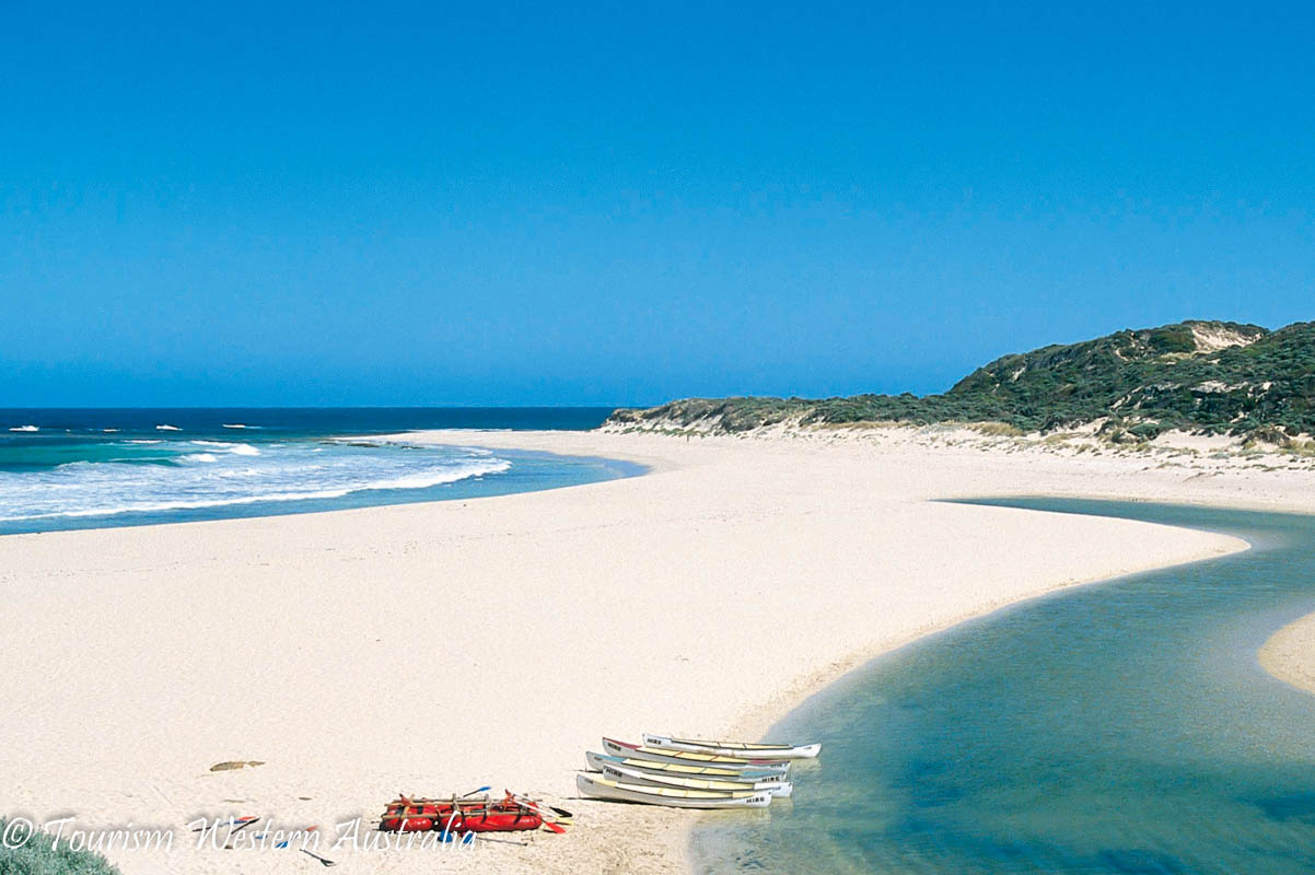 Margaret River Mouth. 5 southern towns in the Margaret River Region