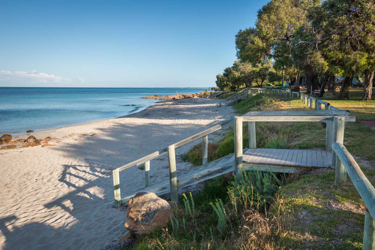 Old Dunsborough Beach. 5 northern towns in the Margaret River Region