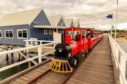 All aboard the Busselton Jetty train