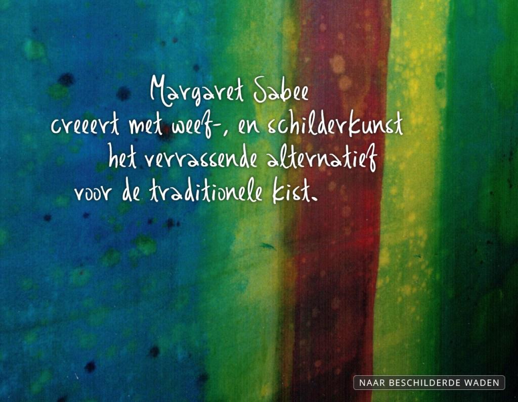 Margaret Sabee Weefkunst beschilderde waden