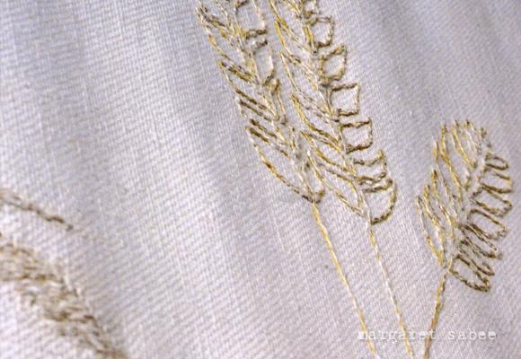 Avondmaal is een kistkleed van Margaret Sabee Weefkunst Den Haag
