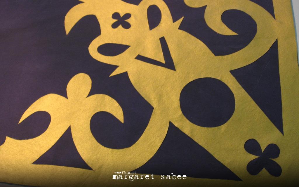 Dekkleed van Margaret Sabee Weefkunst Den Haag