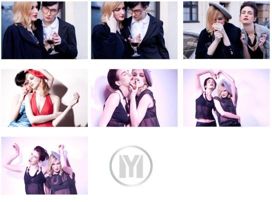 Photo: two female models fashion story by London Fashion Photographer Margaret Yescombe