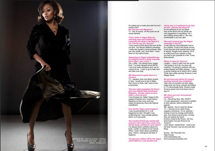 Photo: celebrity model Tocarra Jones by London Fashion Photographer