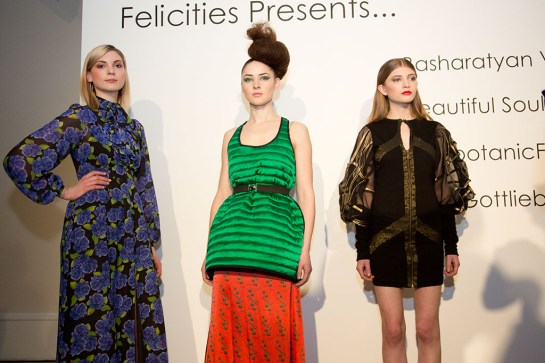 LFW Somerset House - Felicities PR : Fashion Designer Presentation - Designers Collection worn by models