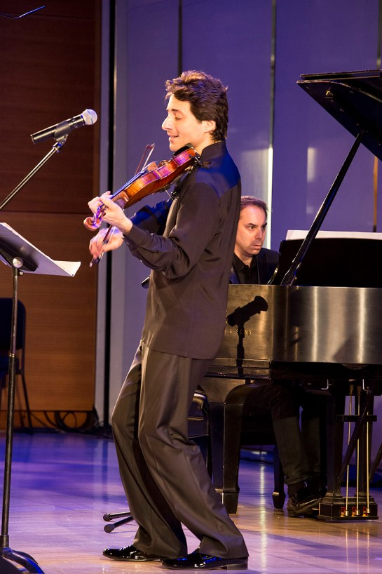 Photo: Russian American Foundation presents Phillippe Quint & friends, performing at The Times Centre, New York, NY. Performers included: Joshua Bell. J. Ralph. Emily Bergl. Michael Bacon. Matt Herskowitz