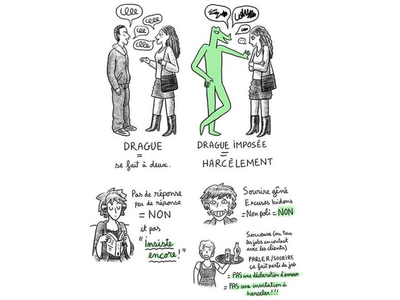 harcèlement sexuel - drague lourde
