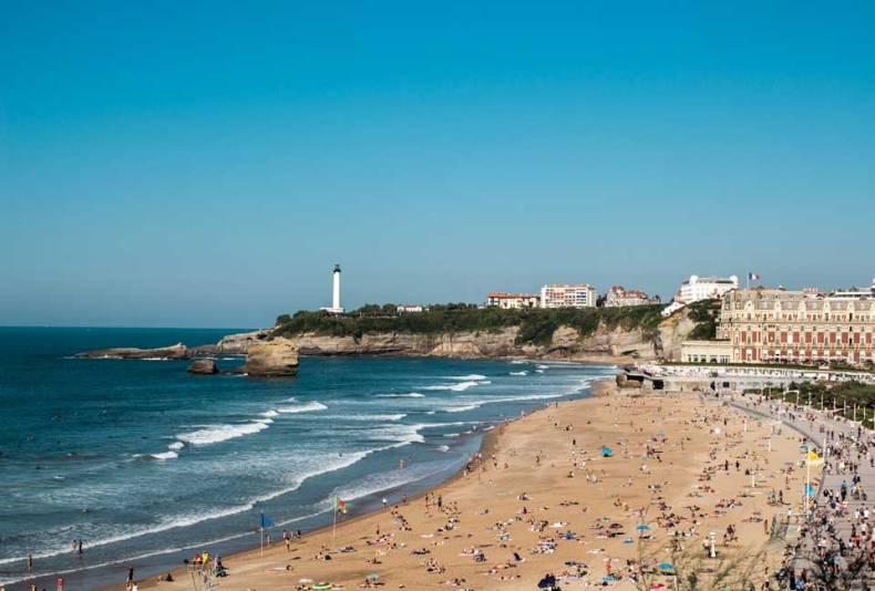 visiter biarritz lors d'un road trip allant d'Hendaye au bassin d'Arcachon