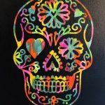 Sugar Skull Hot Mess Canvas