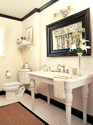 Ivory & Black Bathroom